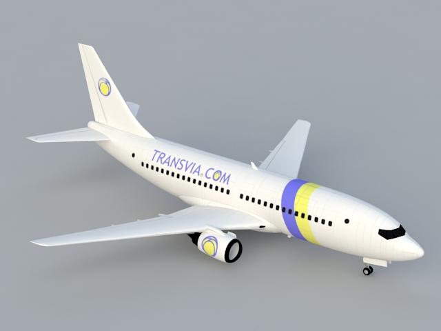 Boeing 737 3d rendering