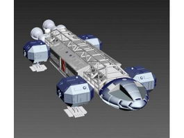 Large Sci Fi Ship 3d model preview