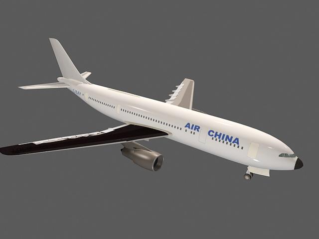 Airbus Jet 3d rendering