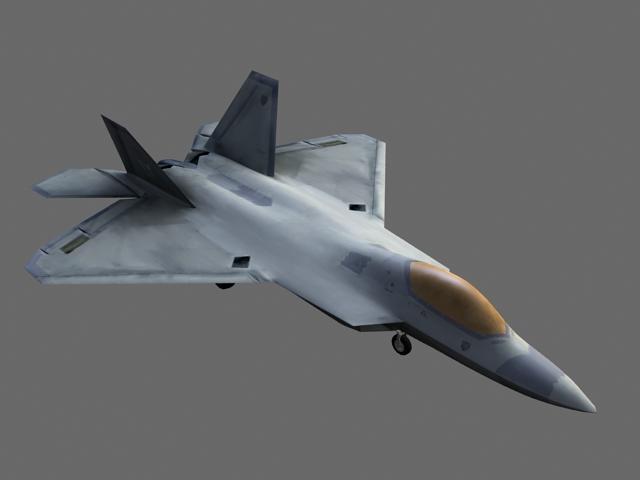 F-22 Fighter Jet 3d rendering