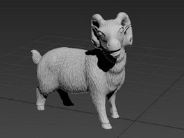 Sheep Statue 3d preview