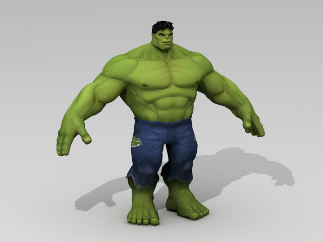 Marvel Hulk 3d Model 3ds Max Autodesk Fbx Object Files
