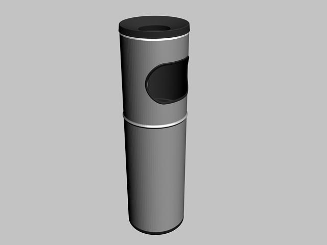 Metal Trash Bin 3d rendering