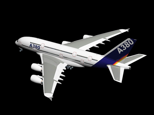 A380 Airplane 3d rendering
