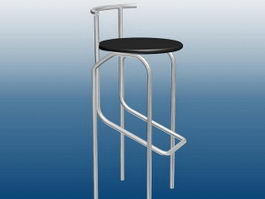Bar Stool with Backs 3d preview