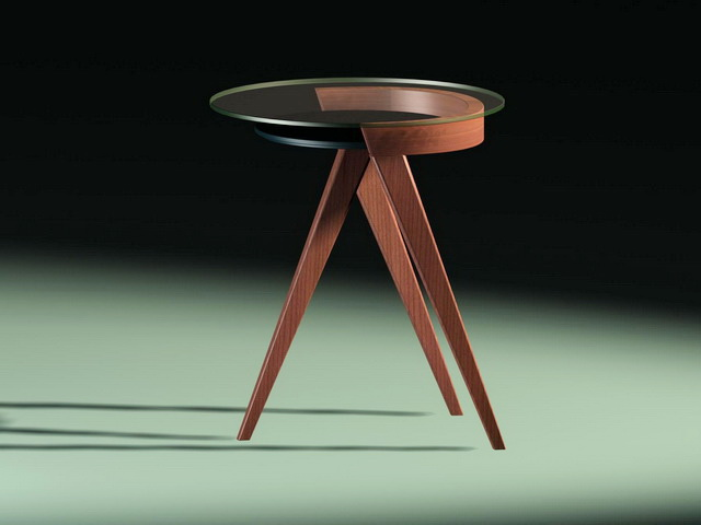 Small Round Coffee Table 3d rendering