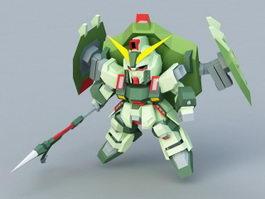 GAT-X252 Forbidden Gundam 3d preview