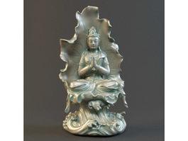 Avalokitesvara Bodhisattva Statue 3d preview