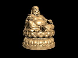Chinese Laughing Buddha Statue 3d preview