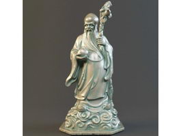 Chinese God of Longevity Statue 3d preview