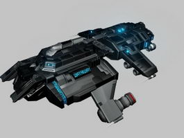 Future Spaceship 3d model preview
