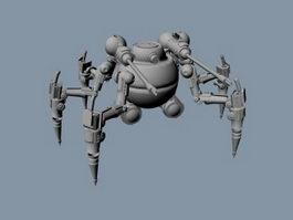 Walking War Robot 3d model preview