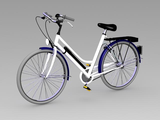 Comfort Bike 3d rendering