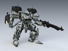 War Robot 3d model preview
