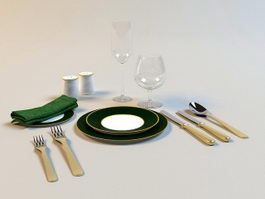 Silverware Cutlery 3d preview