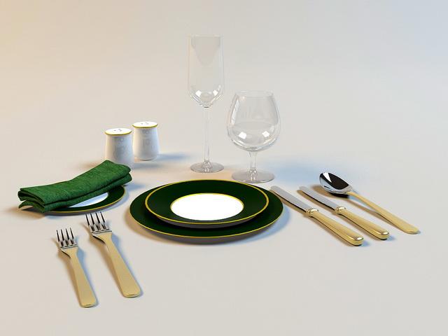 Silverware Cutlery 3d rendering