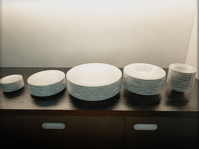 Ceramic Dishes 3d rendering