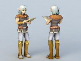 High Elf Scholar 3d preview