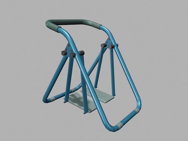 Health Walkers Glide Machine 3d rendering