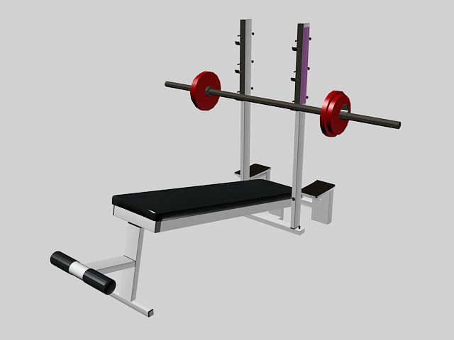 Weight Lifting Equipment 3d rendering