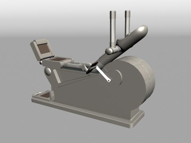 Sport Rider Exercise Machine 3d rendering