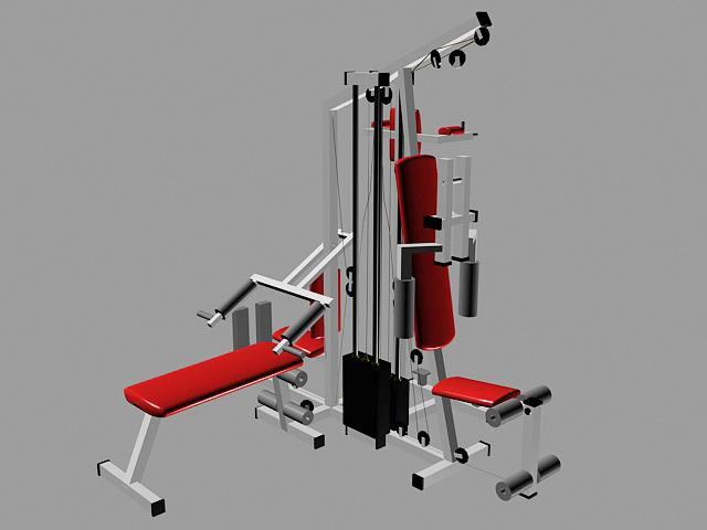 Weight Lifting Station 3d rendering