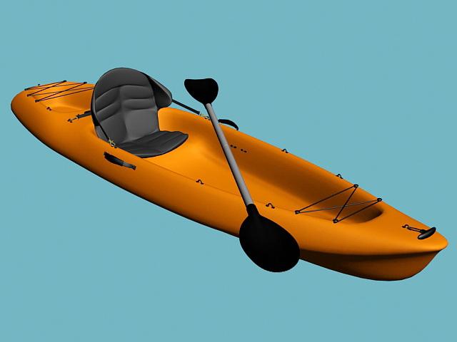 SOT Kayak 3d rendering
