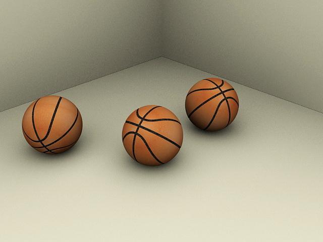 Basketballs 3d rendering