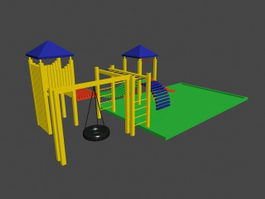 School Playground 3d preview