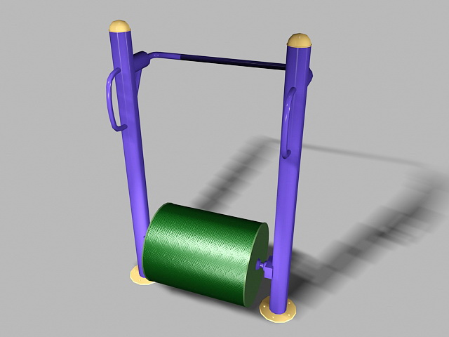 Elderly Playground Equipment 3d rendering