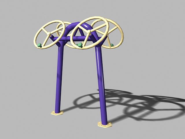 Outdoor Arm Exercise Equipment 3d rendering