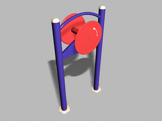 Adult Fitness Playground Equipment 3d rendering