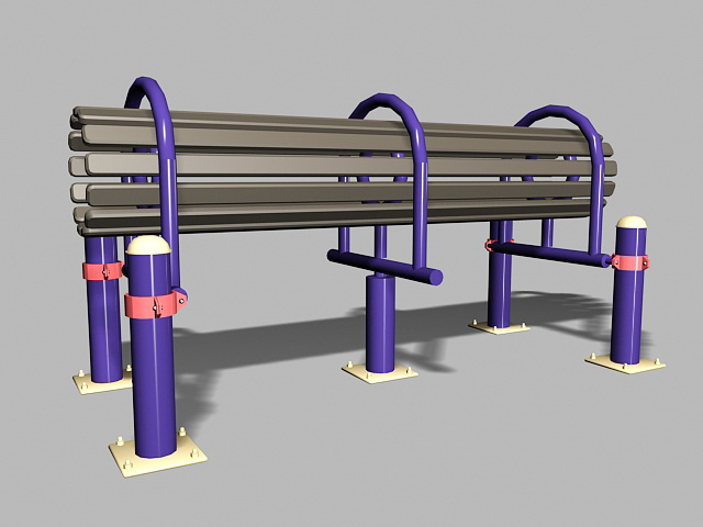 Older Adults Playground Equipment 3d rendering