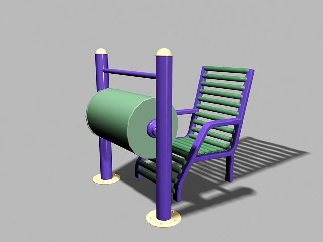 Senior Citizen Playground Equipment 3d rendering