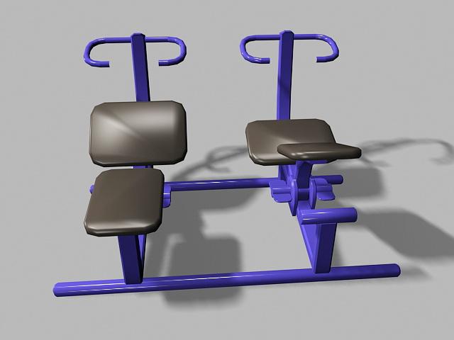Senior Playground Equipment 3d rendering