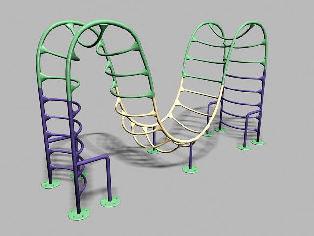 Playground Monkey Bars 3d rendering