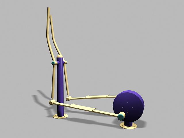 Stepper Fitness Exercise Equipment 3d rendering