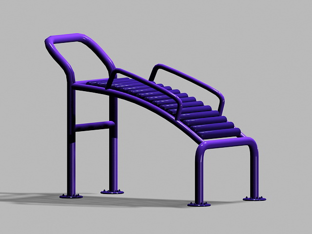 Adult Playground Equipment 3d rendering