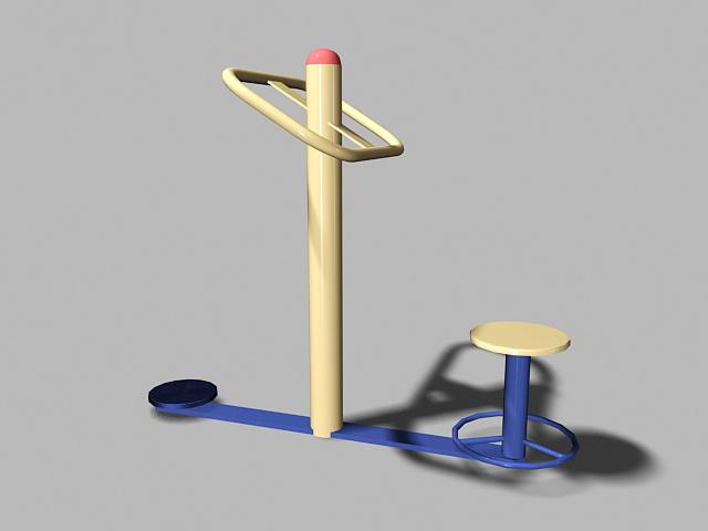 Playground Fitness Equipment 3d rendering
