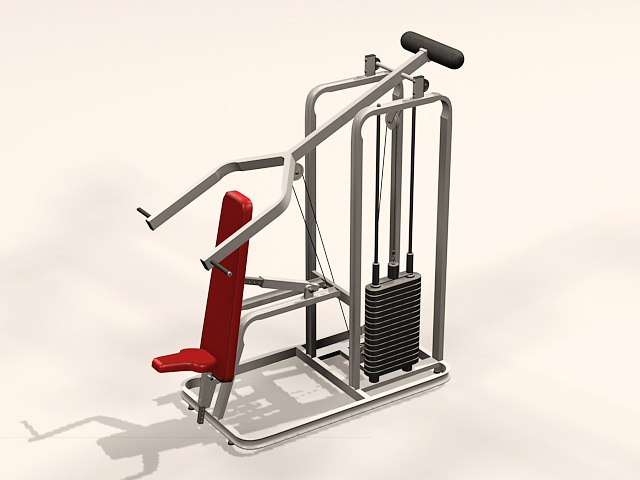 Weight Lifting Machine 3d rendering