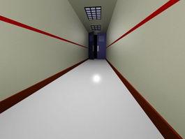Interior Corridor 3d preview
