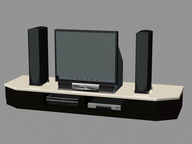 Home Theater System 3d rendering