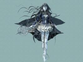 Anime Female Warrior Goddess 3d preview