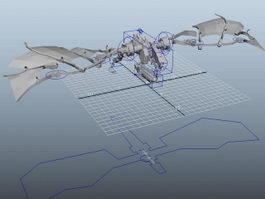 Robot Dragon Rig 3d model preview