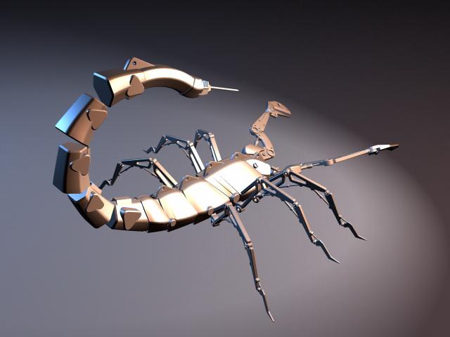 Robotic Scorpion Rig 3d rendering