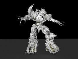 Transformers Megatron 3d preview