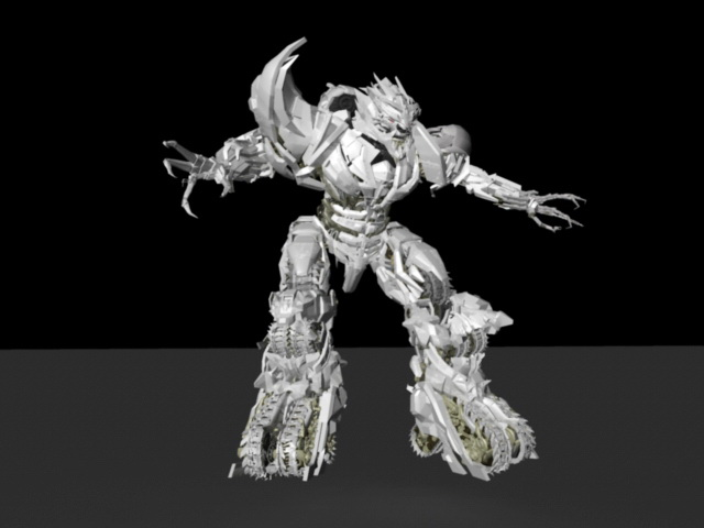 Transformers Megatron 3d rendering