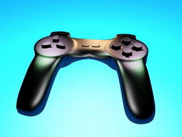 PS4 Gamepad 3d model preview