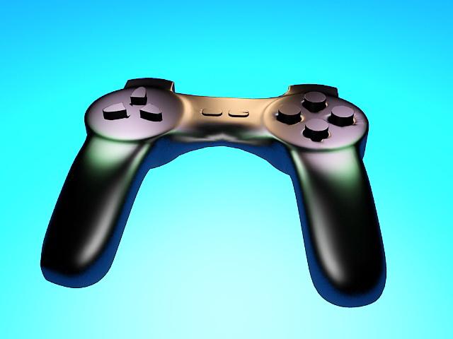 PS4 Gamepad 3d rendering
