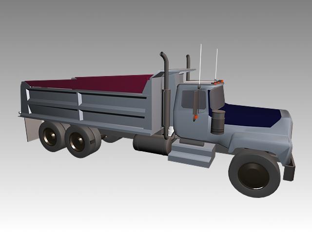 Toy Truck 3d rendering